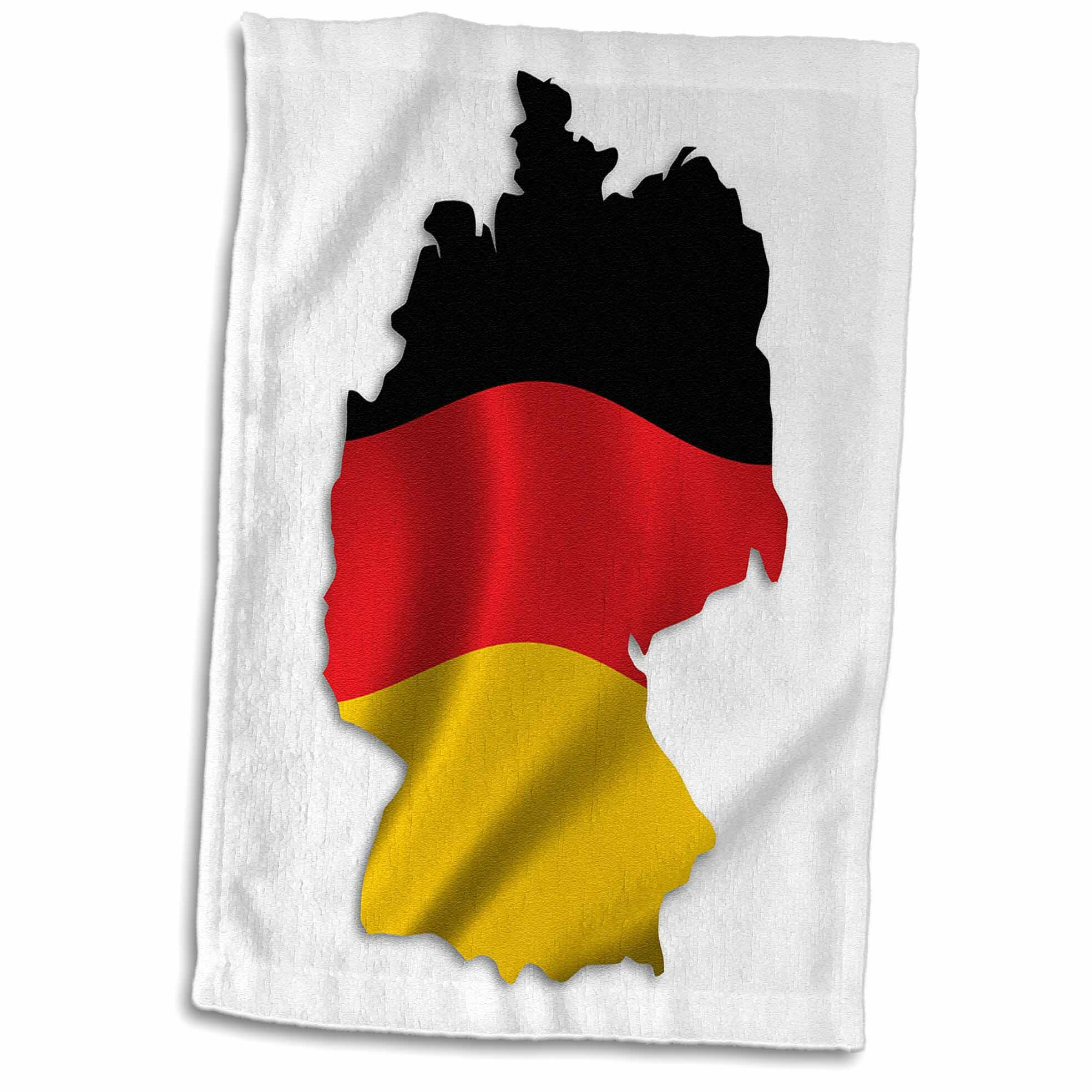 Symple Stuff Bruening Silhouette Of Germany German Flag Banner National Nation Country Hand Towel Wayfair