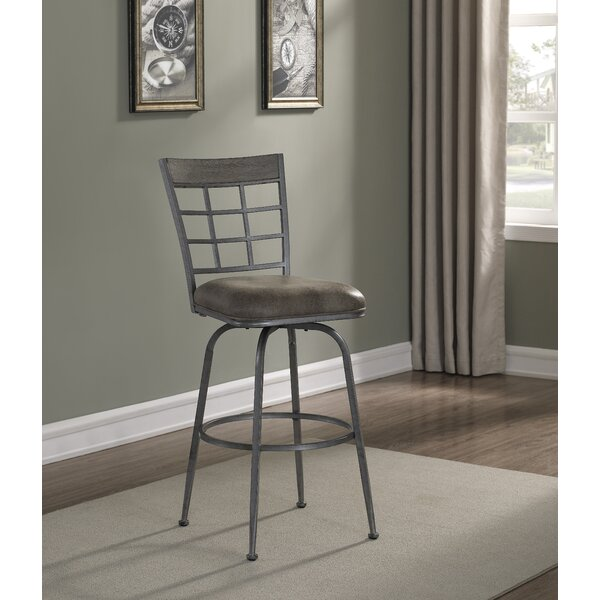 Perreira Swivel Metal Frame Bar Stool by Latitude RunPerreira Swivel Metal Frame Bar Stool by Latitude Run