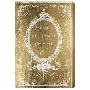 The Fairest Gold Graphic Art on Wrapped Canvas by Mercer41