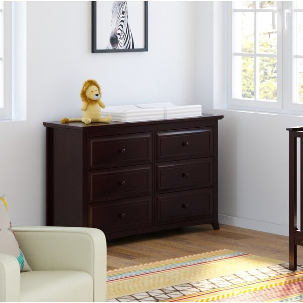Kendall 6 Drawer Double Dresser by Graco
