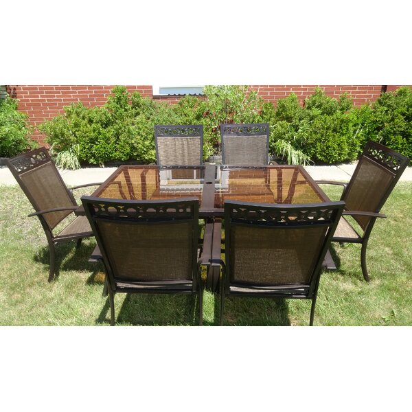 Aadvik 7 Piece Dining Set By Fleur De Lis Living