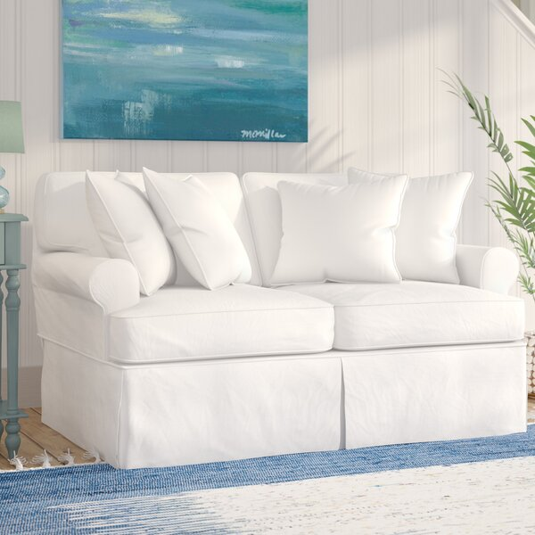 Coral Gables T-Cushion Loveseat Slipcover by Beachcrest Home