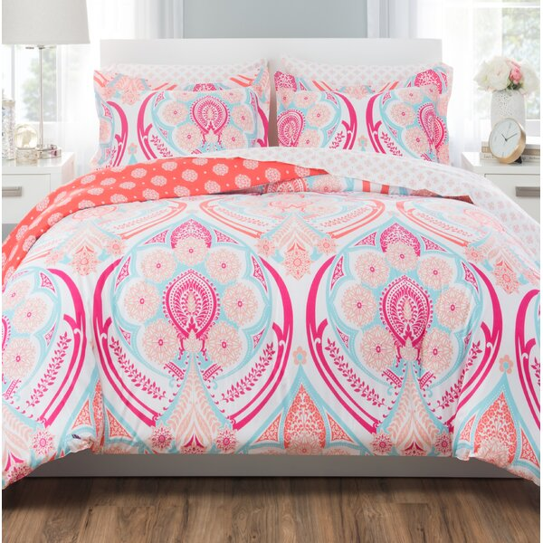 Bright Springtime Reversible  Comforter Set by Nicole Miller