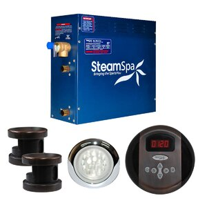 SteamSpa Indulgence 12 KW QuickStart Steam Bath Generator Package in Oil Rubbed Bronze