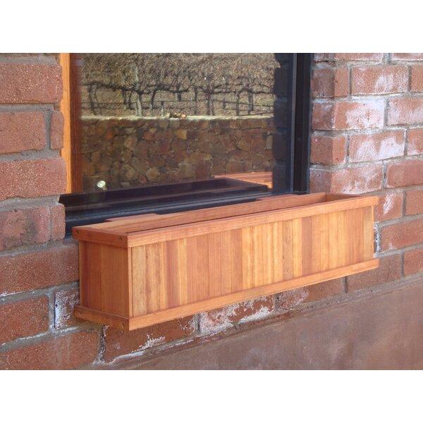 Wood Window Box Planter by Best Redwood