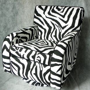 East Coast Seating Zebra Kids Rocking Chair Glider Swivel by Rush Furniture