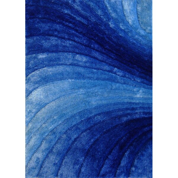 Hand-Tufted Blue Area Rug by Rug Factory Plus