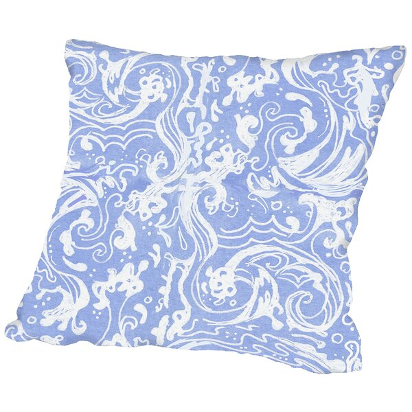 Waves Throw Pillow by East Urban Home
