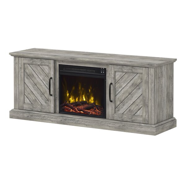 Liu 56 TV Stand with Optional Fireplace by Gracie Oaks