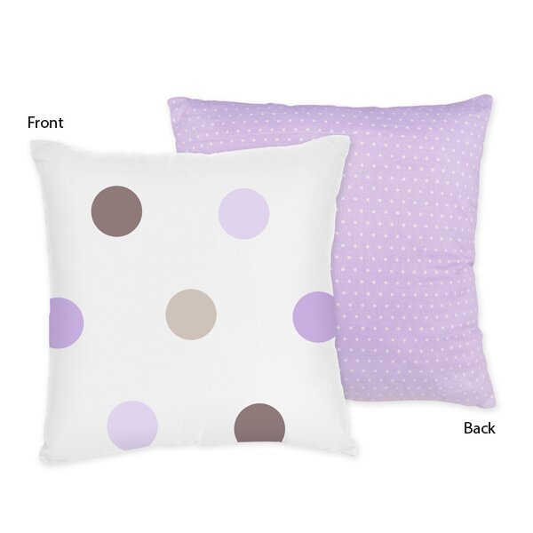 Mod Dots Cotton Throw Pillow by Sweet Jojo Designs