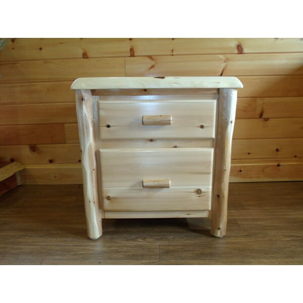 Deming 2 Drawer Nightstand by Loon Peak