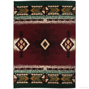 Iberide High-Quality Native Double Shot Drop-Stitch Carving Burgundy Area Rug