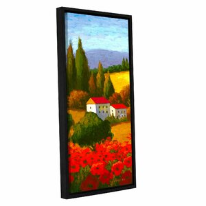 Tuscan Poppies I Painting Print on Wrapped Canvas by Red Barrel Studio