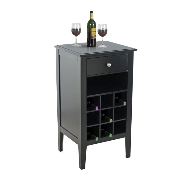 9 Bottle Floor Wine Cabinet by Homestyle Collection