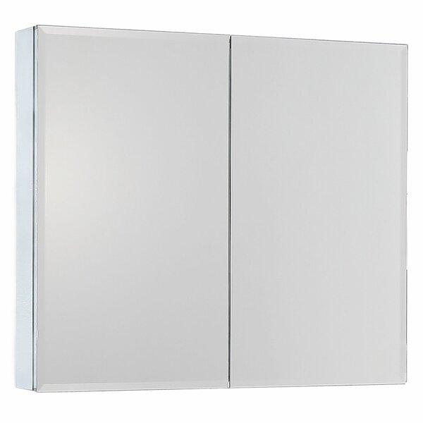 Vasily Movo Recessed or Surface Mount Frameless 2 Door Medicine Cabinet with 2 Adjustable Shelves