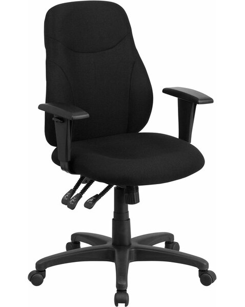 Kruger Mid-Back Ergonomic Office Chair by Symple Stuff