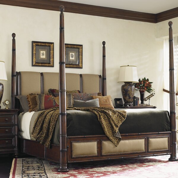 Landara Upholstered Four Poster Bed by Tommy Bahama Home