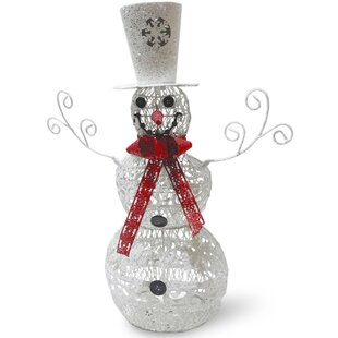 metal snowman christmas decoration