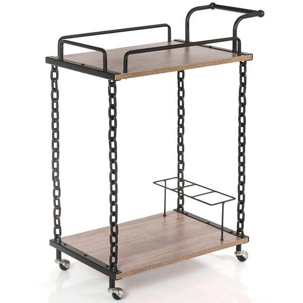 Lange 2-Tier Bar Cart Rolling Kitchen Server by 17 Stories