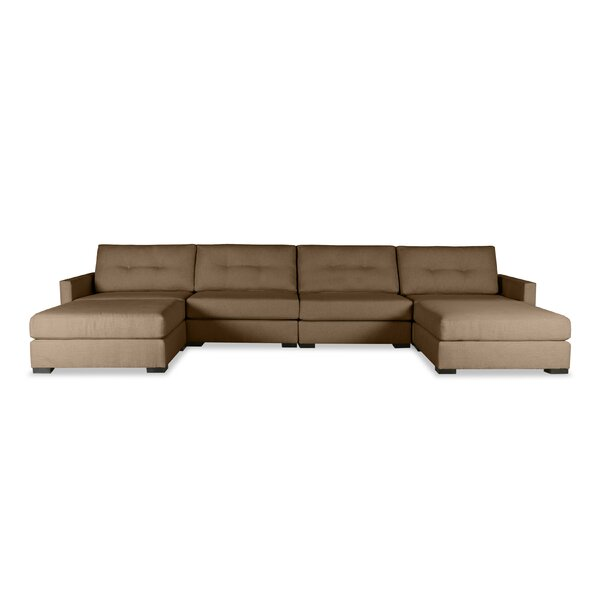 Secrest Buttoned U-Shape Double Chase Modular Sectional by Brayden Studio