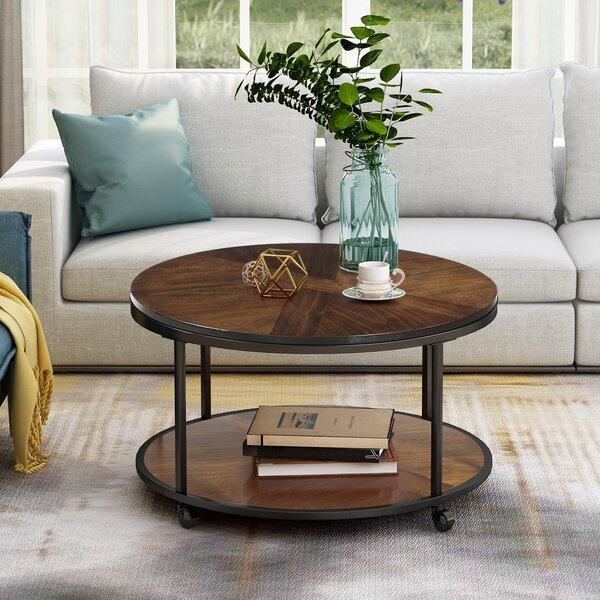 Perales Solid Wood Floor Shelf Coffee Table by 17 Stories 17 Stories