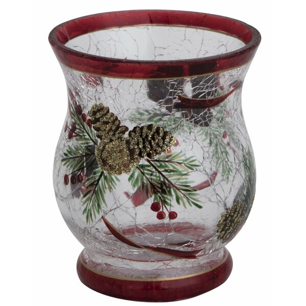 Pine Cone Crack Glass Tealight Holder by The Holiday Aisle