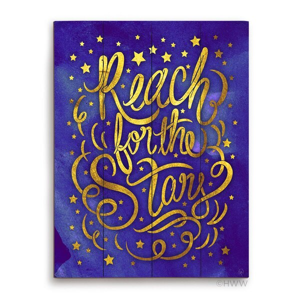 Reach For The Stars Textual Art Plaque by Click Wall Art