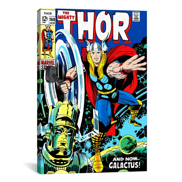 Marvel Comics Book Thor Issue Cover 160 Graphic Art on Wrapped Canvas by iCanvas