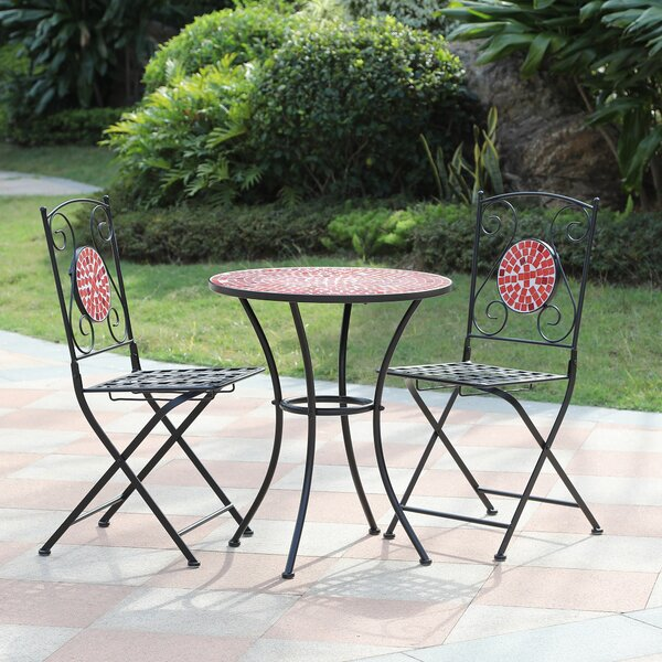 Mosaic 3 Piece Bistro Set by Gracie Oaks