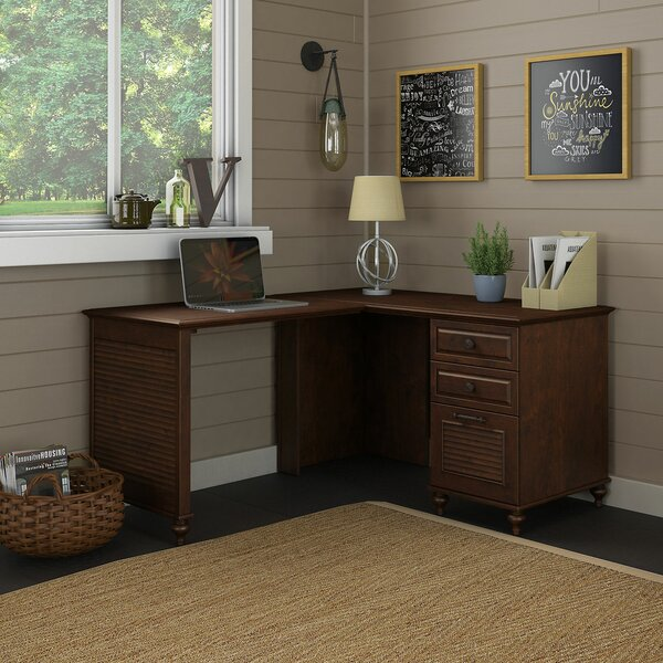 Volcano Dusk 3 Piece L-Shape Desk Office Suite by Kathy Ireland Office by Bush
