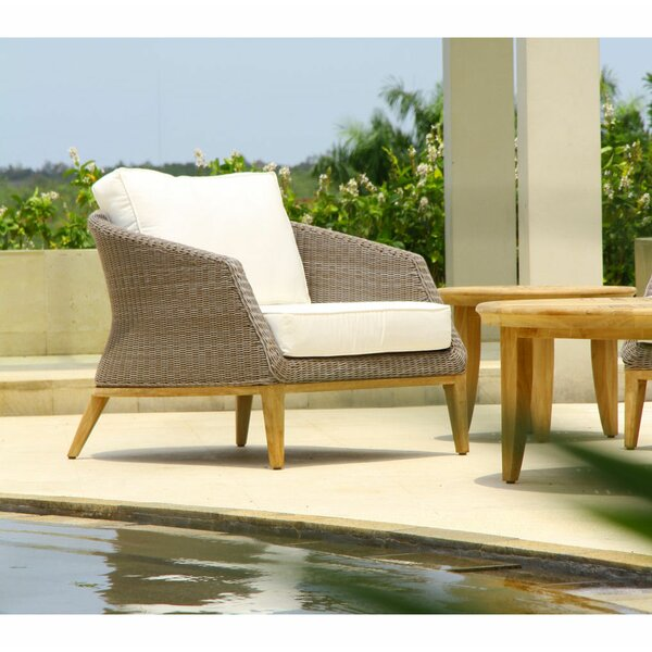 Hanover Deep Seating Teak Patio Chair with Sunbrella Cushions by Wrought Studio