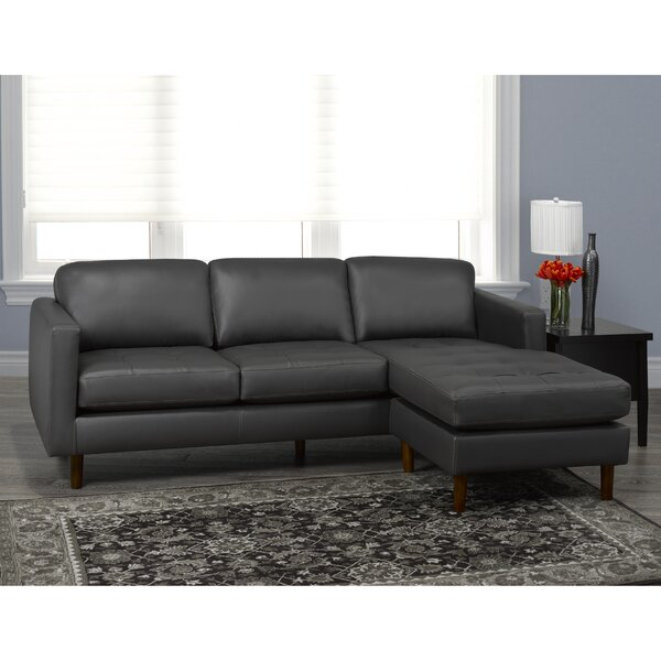 Twyla Right Hand Facing Leather Sectional By Brayden Studio