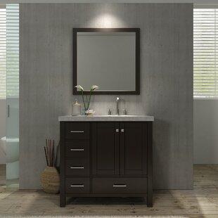 Marine Modern 37 Single Bathroom Vanity Set with Mirror ByAndover Mills