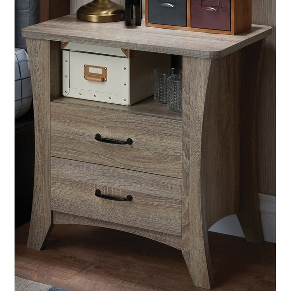 Overstreet 2 Drawer Nightstand By House Of Hampton by House of Hampton Bargain