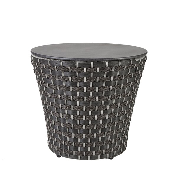 Hector Drum Rattan Side Table by George Oliver