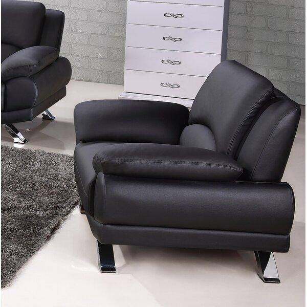 Caelyn Leather Armchair by Hokku Designs
