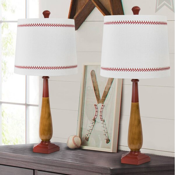 Odysseus Baseball 26 Table Lamp (Set of 2) by Zoomie Kids