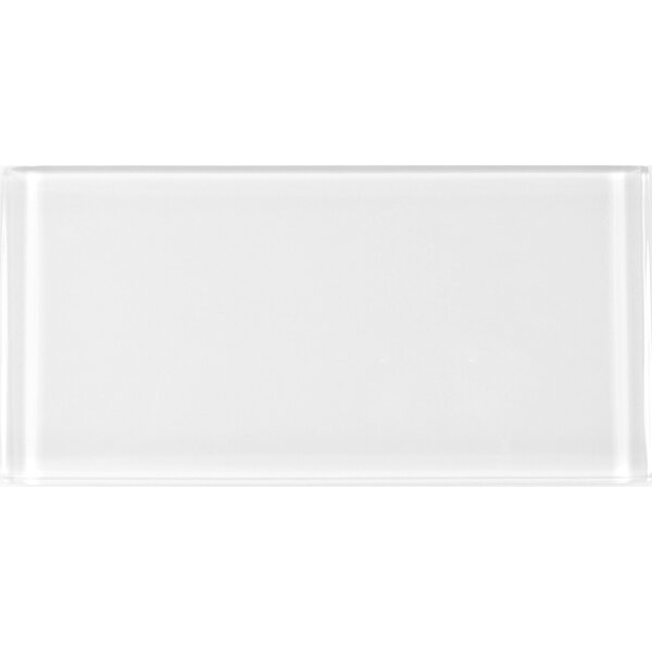 Metro 3 x 6 Glass Field Tile in White by Abolos