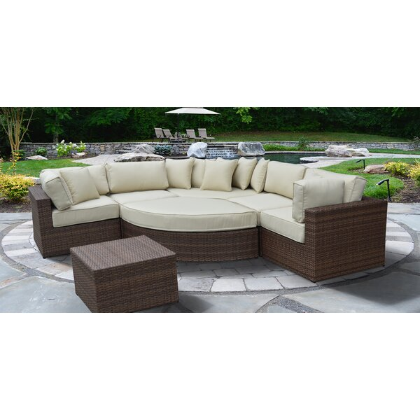 Oberon Lush and Stylish 7 Piece Sectional Set with Cushions by Brayden Studio