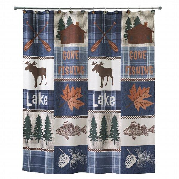 Lanesborough Cotton Shower Curtain by Loon Peak
