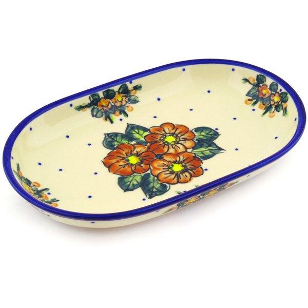 Polish Pottery 11 Oval Platter by Polmedia