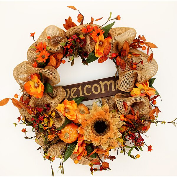 Fall Welcome 22 Welcome Wreath by The Holiday Aisle