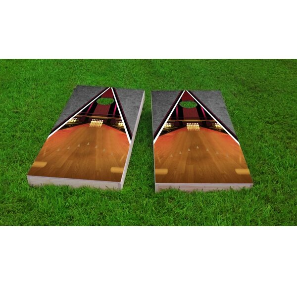 Bowling Lane Cornhole Game Set by Custom Cornhole Boards