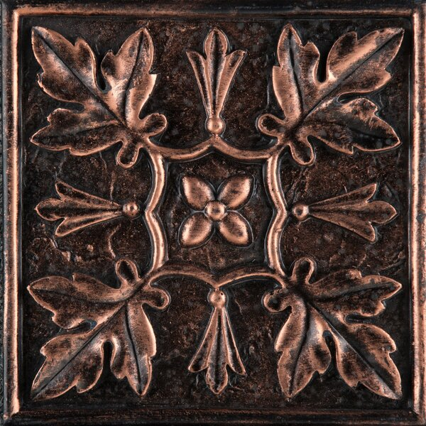 Camelot 4 x 4 Metal Arthur Decorative Accent Tile in Copper by Emser Tile
