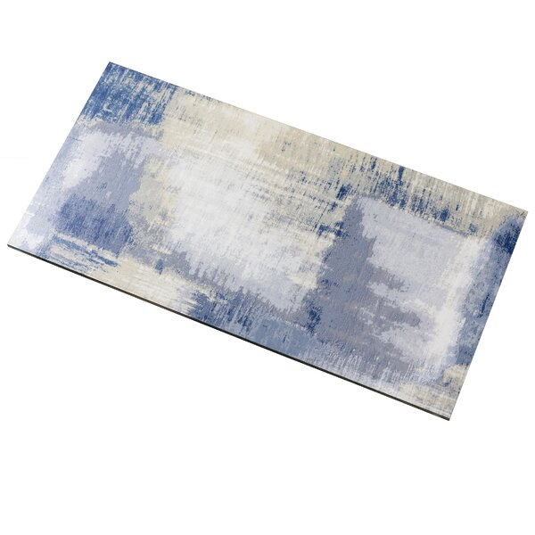 Nature 8 x 16 Glass Subway Tile in Cement Blue/Gray by Abolos