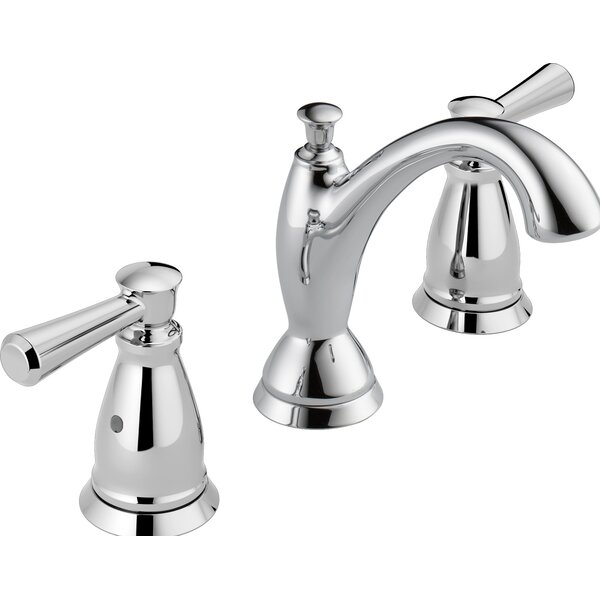 Linden™ Widespread Bathroom Faucet with Drain Assembly and Diamond Seal™ Technology by Delta
