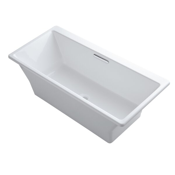 Rêve Freestanding Bath with Brilliant Blanc Base without Jet Trim by Kohler