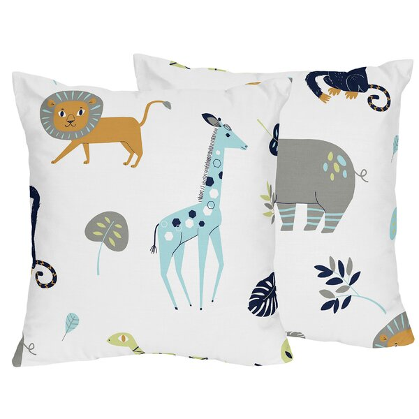 Mod Jungle Throw Pillow (Set of 2) by Sweet Jojo Designs