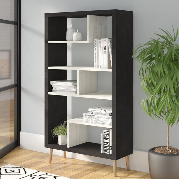 Baptista Geometric Bookcase By Ivy Bronx
