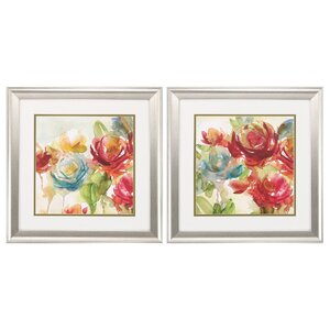 Secret Garden 2 Piece Framed Painting Print Set by Propac Images